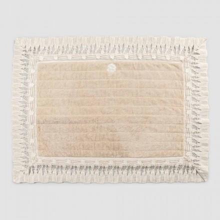 Cotton Terry rektangel badetæppe med luksuriøs kvastblonder - Lippon