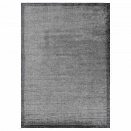Designkantet tæppe i bomuld og viskose til stue - Planetario