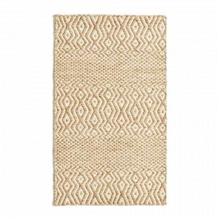 Moderne design stue tæppe i håndlavet uld og bomuld - Minera