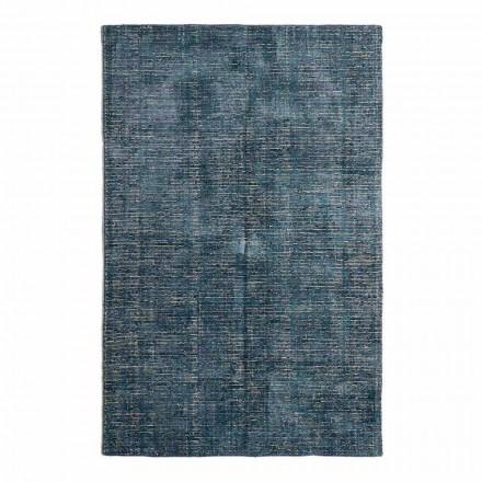 Stue tæppe i bomuld, viskose og uld produceret på manuel væv - Melita
