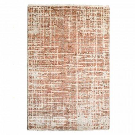 Moderne håndvævet stue tæppe i uld og bomuld - Neppo