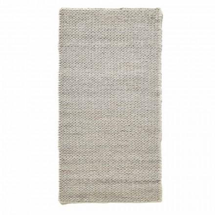 Moderne håndvævet stue tæppe i polyester og bomuld - Tabatha