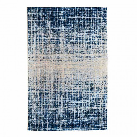 Design Rektangulær stue tæppe i polyester og bomuld - stil