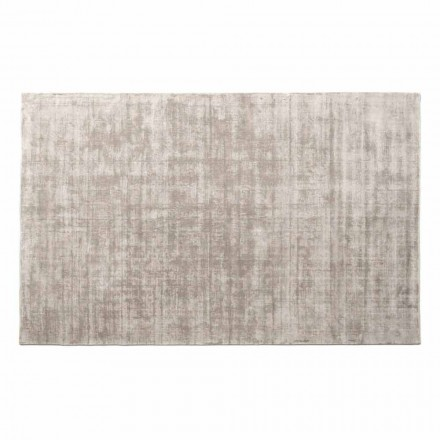 Rektangulær stue tæppe i viskose, høj kvalitet lavet i Italien - Stephan