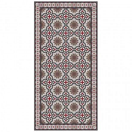 Design rektangulær stue tæppe i PVC og polyester - Coria