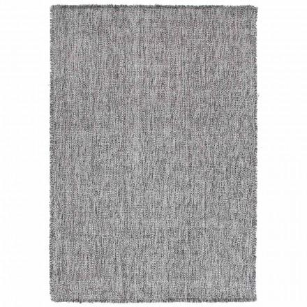 Stort design Big Fringing Carpet i sort eller creme uld - Jacqueline