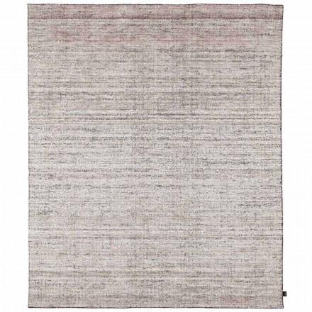 Modernt design med store skraverede tæpper med kant - Brunilde