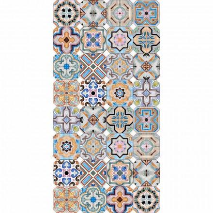 Moderne tæppe med farvet Majolica i vinyl til stue - Calor