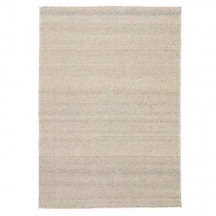 Moderne håndvævet polyester og bomuldsstue tæppe - Soledad