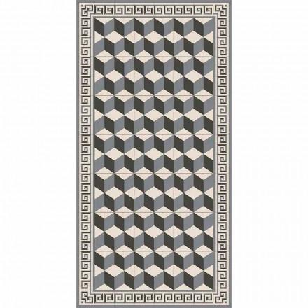 Moderne stue tæppe i pvc og polyester med geometrisk mønster - Romio