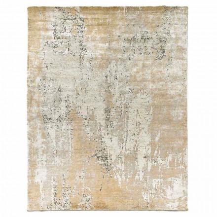 Moderne design elegant tæppe til stue i bambus silke og uld - Pasha