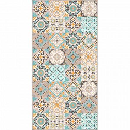 Moderne rektangulær og farvet vinylklæde til stue - Frisca