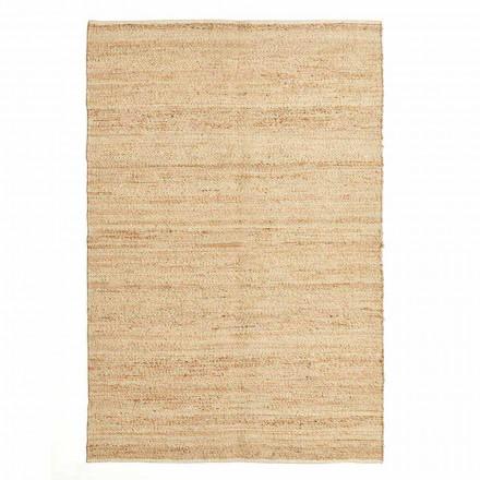 Rektangulært tæppe i uld, jute og bomuld Moderne design til stuen - Remino