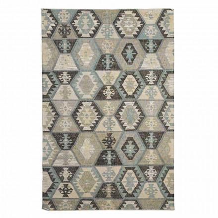 Moderne designmønstret uld- og bomuldsstue tæppe - Ratta