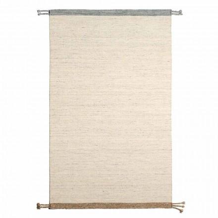 Rektangulær stue tæppe i uld og bomuld Alsidigt og moderne design - Dimma