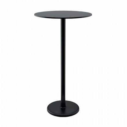 Højt udendørs bord i støbejernmetal og HPL fremstillet i Italien - Chester