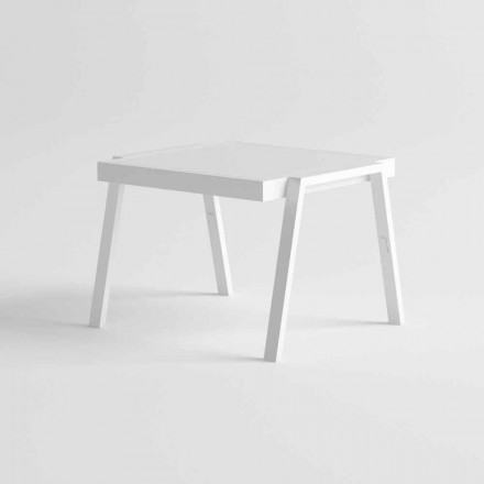Moderne udendørs sofabord i aluminium og HPL - Carmine2
