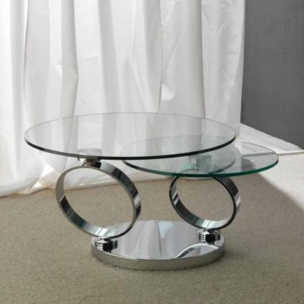 Bord med to runde toppe bevægelig synkroniseret glas Chieti
