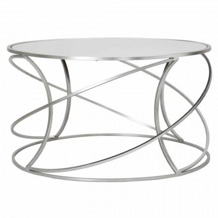 Lavt sofabord til stue i jern og moderne spejl - Corine