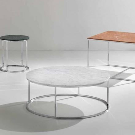 Sofabord lavet af hvid Carrara-marmor, moderne design, Zeus