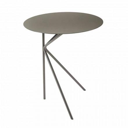 Rundt sofabord af metal, design i forskellige farver og 2 størrelser - Olesya