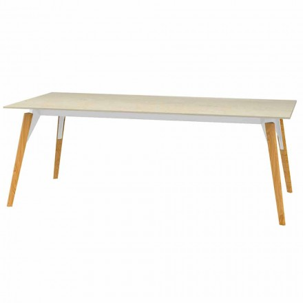 Sofabord marmoreffekt top, 3 farver 2 størrelser - Faz Wood af Vondom