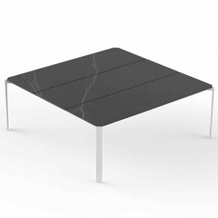 Firkantet have sofabord, marmoreffekt top - tablet fra Vondom