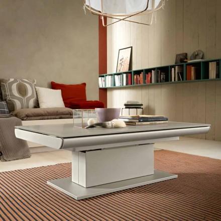 Transformerende sofabord i glas og stål fremstillet i Italien - Silvestro