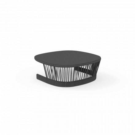 Cliff udendørs bord af Talenti, i ledning og aluminium, design af Palomba