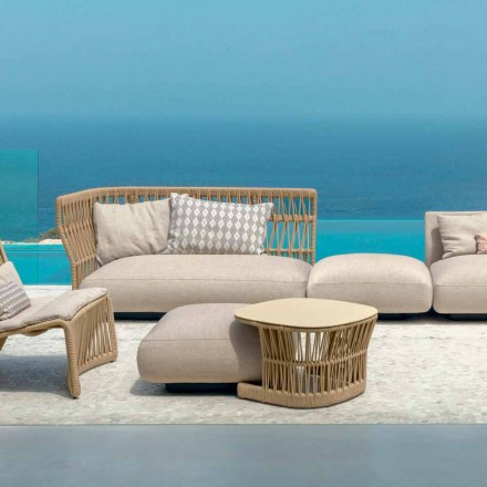 Cliff garden bord af Talenti, designet af Palomba i ledning og aluminium