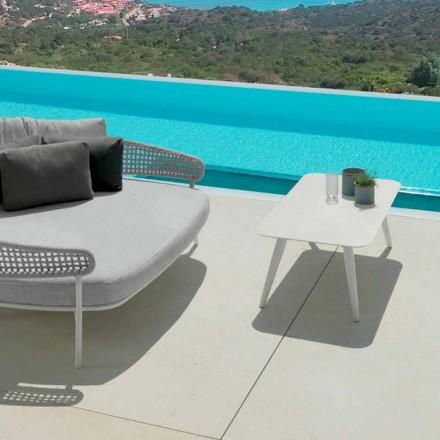Moon Alu udendørs bord af Talenti, 110x60cm med porcelæn stentøj