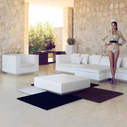 Garden kvadrat sofabord Vela Vondom, moderne design i polyethylen