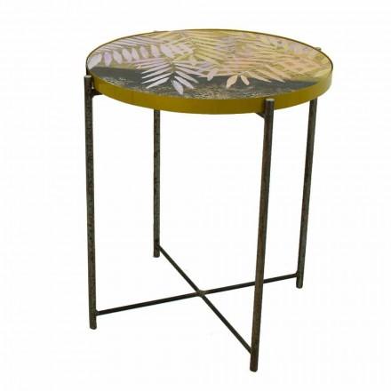Indendørs eller udendørs sofabord med metalstruktur fremstillet i Italien - Carim