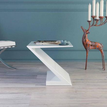 Zeta moderne design hvidt sofabord lavet i Italien
