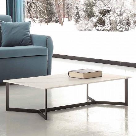 Sofabord med Hpl Top hvid marmoreffekt fremstillet i Italien - Indio