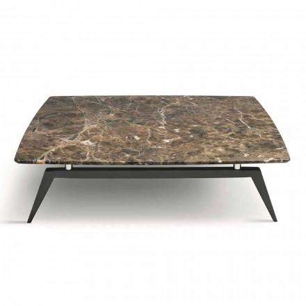 Sofabord med marmorplade og træbund lavet i Italien - hæve