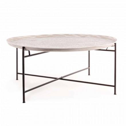 Homemotion Sofabord med rund top og stålbase - Tullio