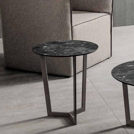 Sofabord med rund top i lamineret HPL fremstillet i Italien - Mina