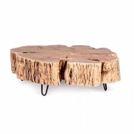 Homemotion Sofabord med formet top i akacietræ - Nabucco