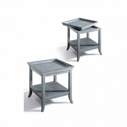 Sofabord Design stue i gråt lakeret træ, 60x60 cm, Marcus