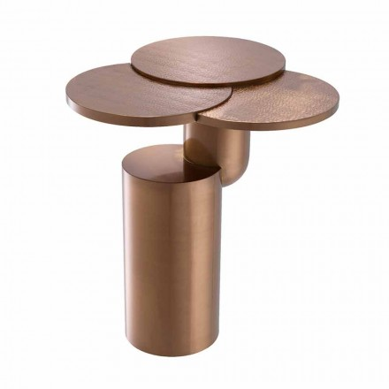 Design Sofabord i børstet kobberfinish stål - Olbia
