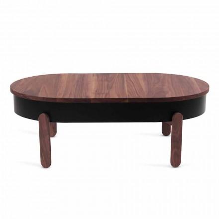 Design sofabord i massivt træ og lakeret metal - Salerno