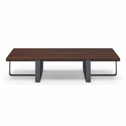 Luksus sofabord i farvet metal og træplade - Anacleto