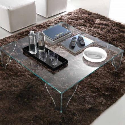 Sofabord i ekstra klar gennemsigtig krystal fremstillet i Italien - Lithium