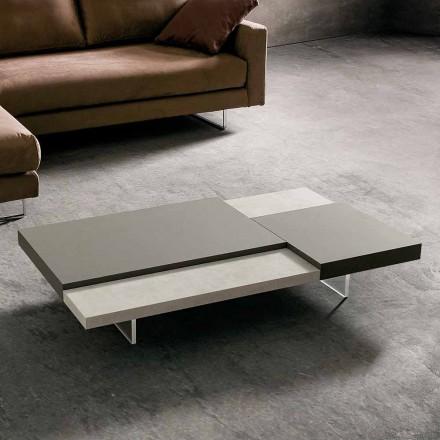 Fenix sofabord med gennemsigtige fødder lavet i Italien - Justin