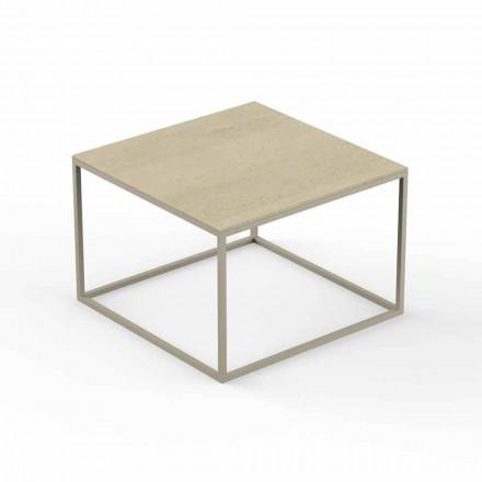 Design Have Sofabord, Firkantet Marmor Effekt Top - Suave af Vondom