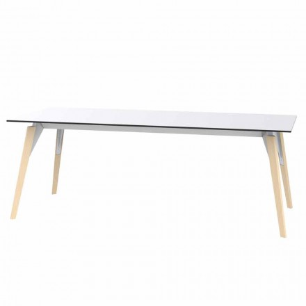 Sofabord i hvid eller sort laminat i 2 størrelser - Faz Wood af Vondom