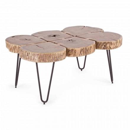 Sofabord i akacietræ og homemotion malet stål - Havana