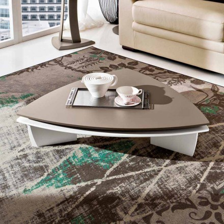 Sofabord i lakeret Mdf med drejetop lavet i Italien - Lisa