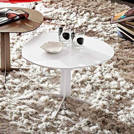 Metal sofabord med formet top fremstillet i Italien - Samanta